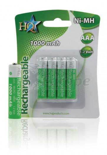 Oplaadbare batterij AAA 1000 mAh NiMH HQ 4 stuks