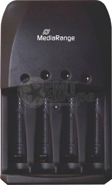 Mediarange 191 batterij snellader 4 kanaals (alternatief voor Camelion bc-1007)