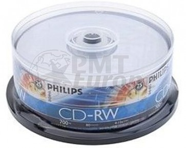 CD-RW 80min Philips 25 stuks
