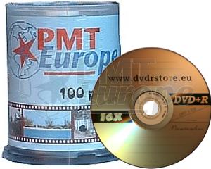 DVD+R 4.7GB 16X PMT europe 100 stuks