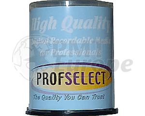 DVD+R 4.7GB 16X Profselect 100 stuks full wit inktjet printable