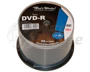 DVD-R 4.7GB 16X Thats Write 600 stuks