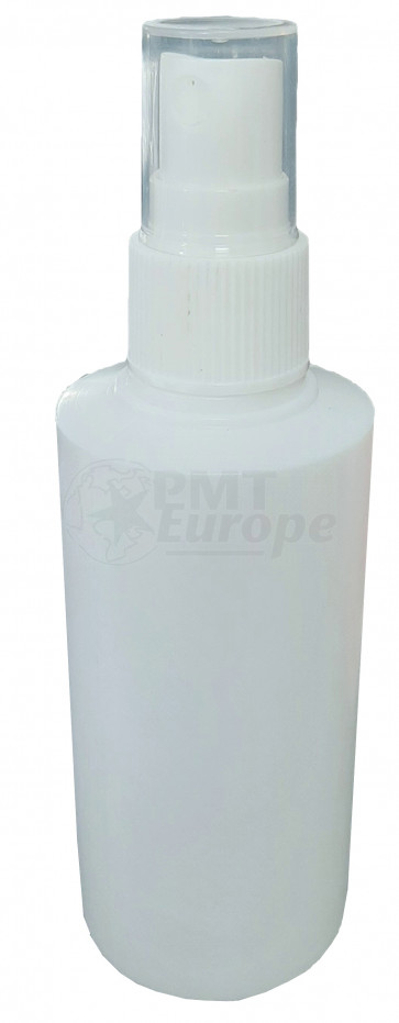 100 ml spray flesje wit met vinger verstuiver / spraykop (Boston model)