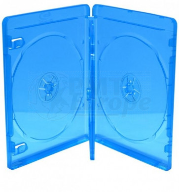 Blu-ray Disc doos voor 4 discs  (14mm)  blauw 5 stuks