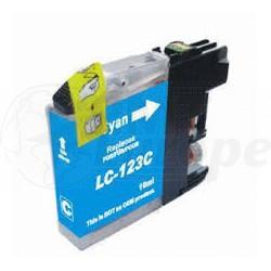 Brother LC-123C inktcartridge cyaan + chip (huismerk)