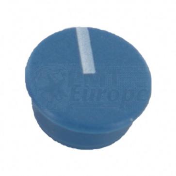 Kapje voor draaiknop Blauw (9mm) C111B met line