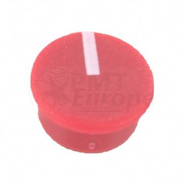 Kapje voor draaiknop Rood (9mm) C111R met line