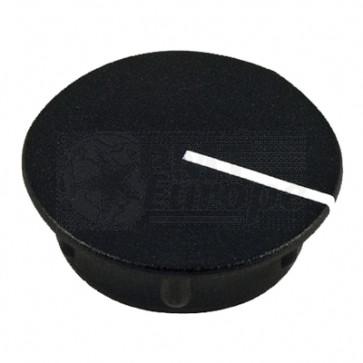 Kapje voor draaiknop Zwart (13,5mm) C151BK met line