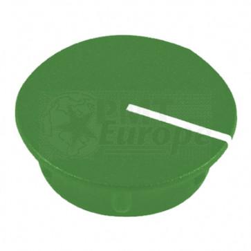 Kapje voor draaiknop Groen (13,5mm) C151G met line