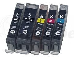 Canon CLI-8 / PGI-5 voordeelset + chip (huismerk)