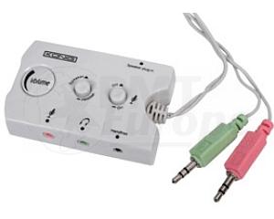 Headset/speaker audio schakelaar