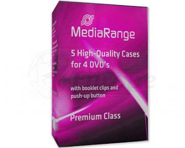 DVD doos 4 dvds zwart 5 stuks