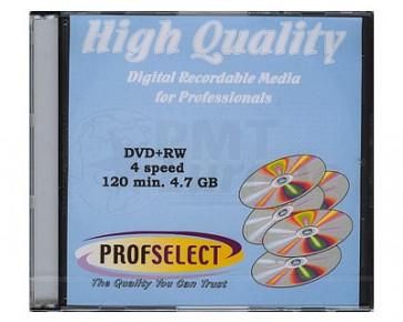 DVD+RW 4.7GB 4X Profselect 10 stuks