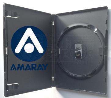 DVD doos 14mm 1 dvd zwart 49 stuks Amaray