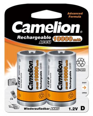 Oplaadbare batterij Mono D 10.000 mAh NiMH Camelion 2 stuks