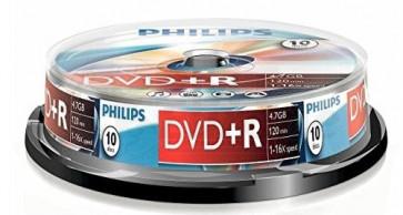DVD+R 4.7GB 16X Philips 10 stuks