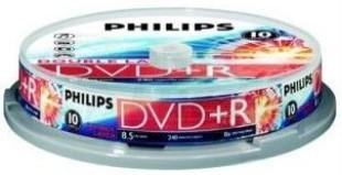DVD+R 8.5GB 8X Philips double layer 10 stuks