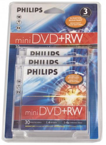 DVD+RW mini 8cm Philips 3 stuks