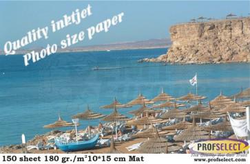 Inktjet fotopapier 10*15 cm 180g/m² mat Profselect 150 vel