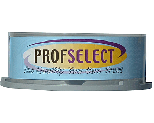 DVD+R 4.7GB 16X Profselect 25 stuks full wit inktjet printable