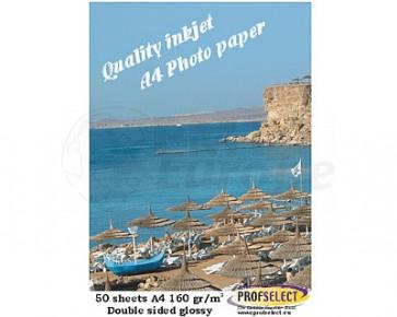 Inktjet fotopapier A4 155g/m² glans Profselect 50 vel dubbelzijdig