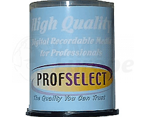 CD-R 80min 52X Profselect 100 stuks full wit inktjet printable