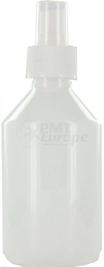 250 ml witte spray fles leeg met vinger verstuiver / spraykop (28mm)