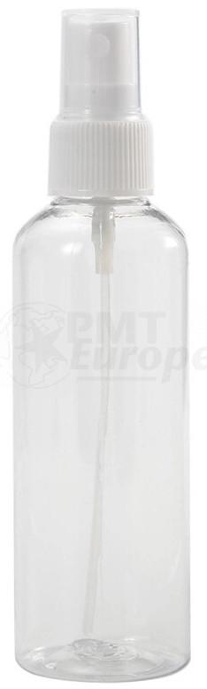 100 ml transparante spray flesje met vinger verstuiver / spraykop (Boston model)