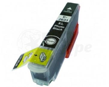 Epson 26XL (T2631) inktcartridge foto zwart hoge capaciteit + chip (huismerk)