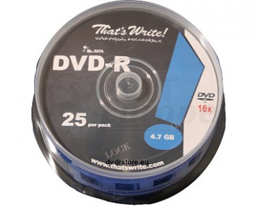 DVD-R 4.7GB 16X Thats Write 25 stuks