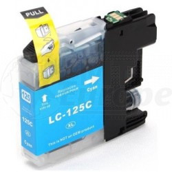 Brother LC-125XLC inktcartridge cyaan hoge capaciteit + chip (huismerk)