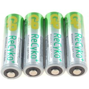 Oplaadbare batterij AA 2100 mAh NiMH GP Recyko+ 4 stuks