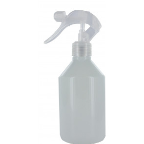 250 ml spray fles wit met transparante  trigger verstuiver