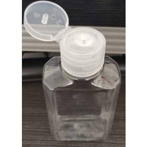 60ml doseer fles met flip top dop, transparant ideaal voor desinfectie materiaal / gell