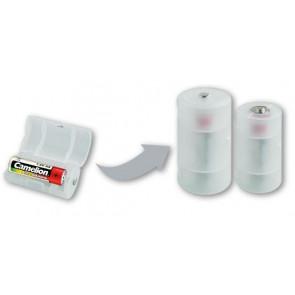 Batterij adapter AA naar mono D Camelion 2 stuks