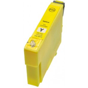 Epson T0804 inktcartridge geel + chip (huismerk)
