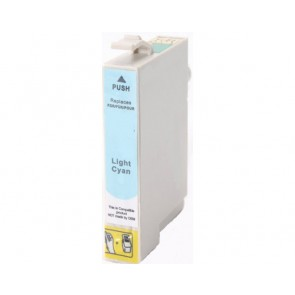 Epson T0805 inktcartridge licht cyaan + chip (huismerk)