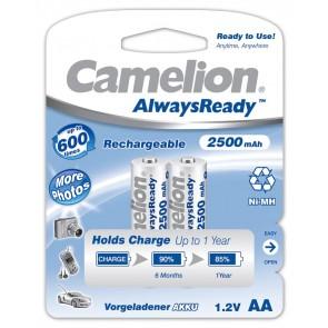 Oplaadbare batterij AA 2500 mAh Camelion always ready 2 stuks