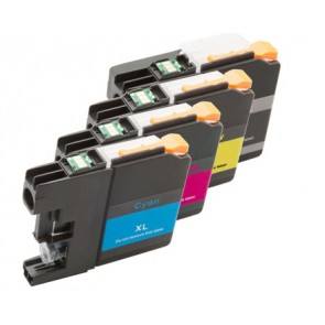 Brother LC-125XL / LC-127XL voordeelset + chip (huismerk)
