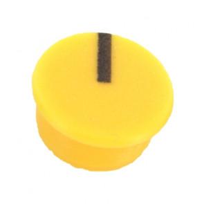 Kapje voor draaiknop Geel (9mm) C111Y met line