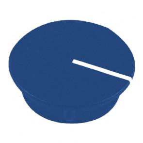 Kapje voor draaiknop Blauw (13,5mm) C151B met line