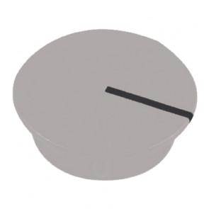 Kapje voor draaiknop Grijs (13,5mm) C151GY met line