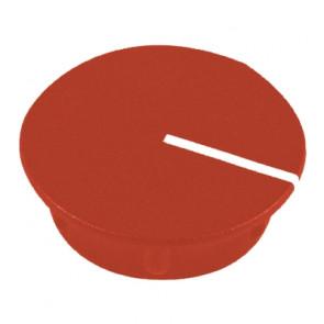 Kapje voor draaiknop Rood (13,5mm) C151R met line