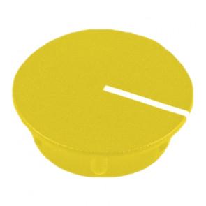Kapje voor draaiknop Geel (13,5mm) C151Y met line