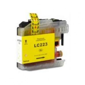 Brother LC-223Y inktcartridge geel + chip (huismerk)