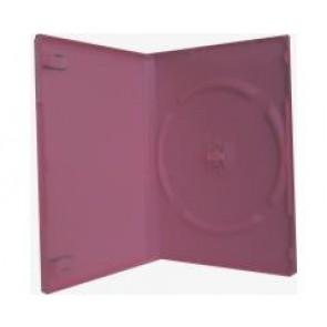 DVD doos 14mm 1 dvd roze premiumline 10 stuks