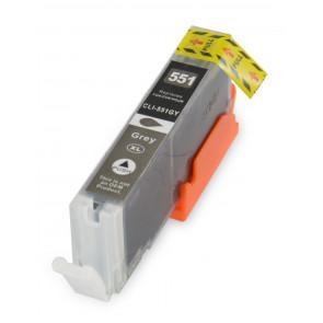 Canon CLI-571GY inktcartridge grijs + chip (huismerk)