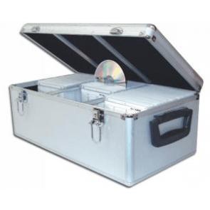 DJ koffer voor 500 schijven zilver