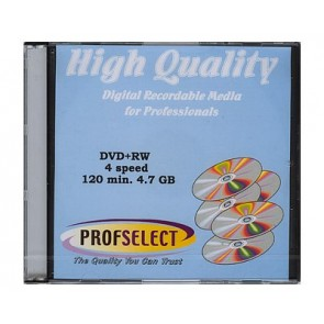DVD+RW 4.7GB 4X Profselect