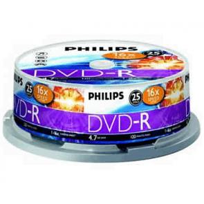 DVD-R 4.7GB 16X Philips 25 stuks